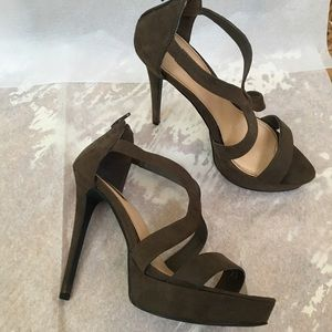 Forever 21 Stiletto Faux Suede Heels